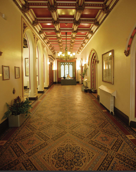 Main hallway from alternative angle