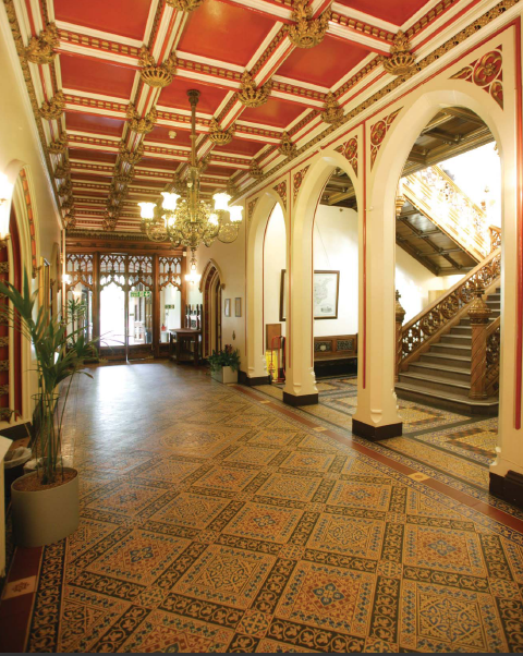 The main interior hallway